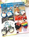 CJB Lovey Doraemon Keychain Plastic Sleeve Cap Set of 2 Blue (US Seller)