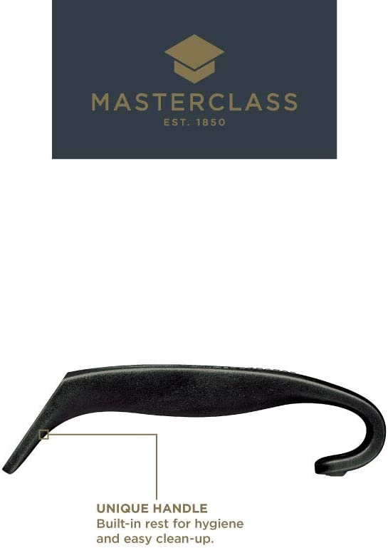 11 MasterClass Catering-Quality Stainless Steel Sauce Ladle with Nylon Handle 28 cm - Black
