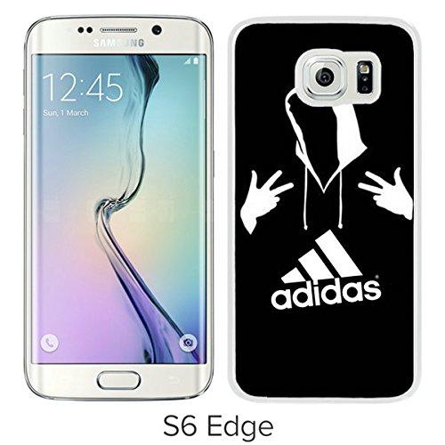 the best attitude d2b6d cc3ab Amazon.com: For Samsung Galaxy S6 Edge,Adidas 6 White Protective ...