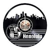 Honolulu Hawaii Vinyl Record Wall Clock - Bedroom wall decor - Gift ideas for friends, boys and girls– City Unique Art Design