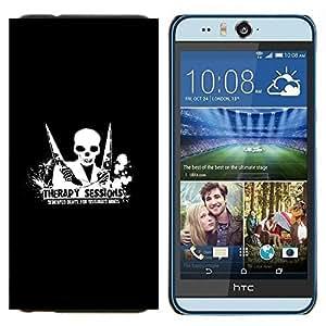 YiPhone /// Prima de resorte delgada de la cubierta del caso de Shell Armor - Terapia Sesión Demented Beats - HTC Desire Eye M910x