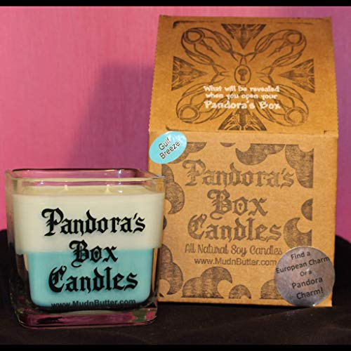 Pandora's Box Candles Gulf Breeze + 100% Soy Candles Double Cotton Wicks Jewelry Candles European Style Charms Prize Inside Aromatherapy Pandora ()
