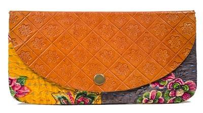"Fair Trade Handmade ""Jogi"" Leather and Fabric Clutch"
