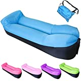 BNY Inflatable Lounger Chair Sofa Bed Air Sofa Sleeping Bag Couch Beans For Bean Bag Chair For Beach Camping Park BBQ music festivals (Blue)