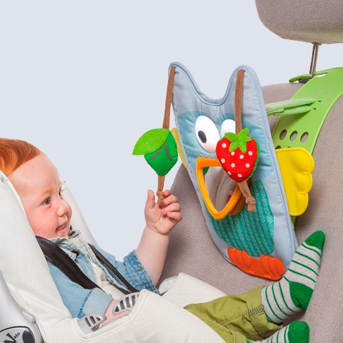 Musical Car Seat Toy - Owl, Include a Remote Control for Parents Use. Keeps Both Baby and Parent (Sit In Remote Control Car)