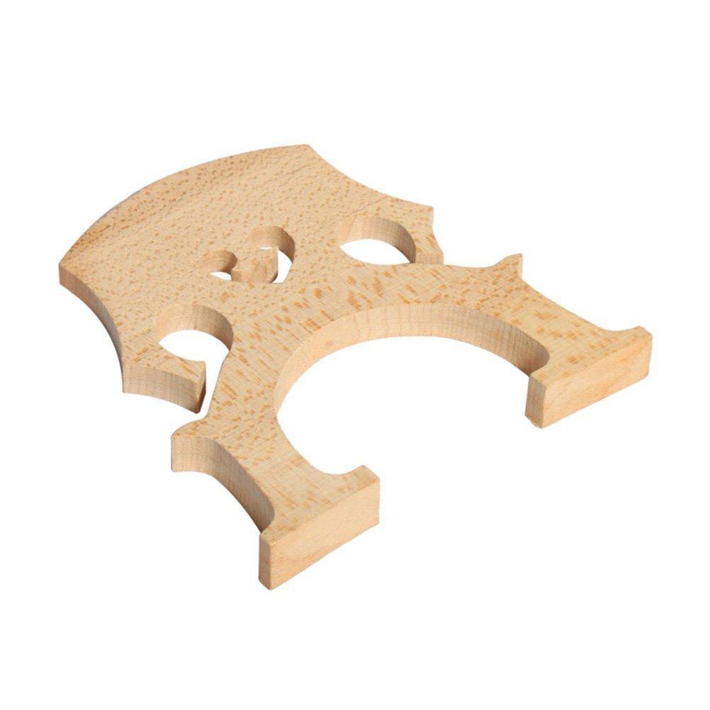 Wood Color PIXNOR Cello Parts Maple 34 Cello Bridge
