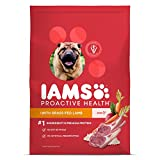 #4: Iams ProActive Health Dry Dog Food for All Dogs – Lamb and Rice, 30 Pound Bag