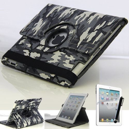 Mecasy_Military Camouflage Leather Rotating Apple