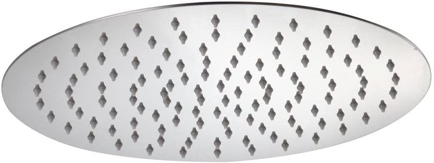 Kelica 16 inch Stainless Steel Ultra Thin Round Fixed Rainfall Shower Head Chrome