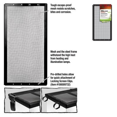 ENERGY SAVERS UNLIMITED,INC. - SCREEN COVER METAL BLK 16X8 by ENERGY SAVERS UNLIMITED,INC.