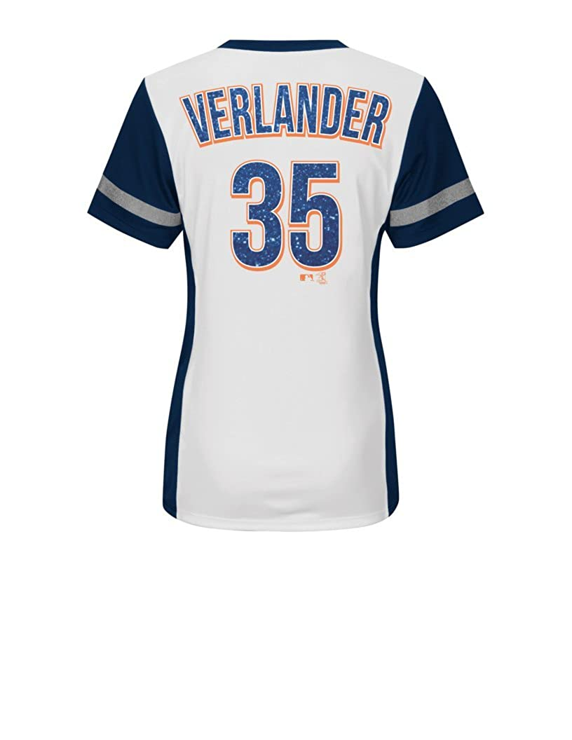 VF LSG MLB Detroit Tigers Womens Rugged Competitor Pull Over Color Block Name /& Number Player Jersey Large White//Athletic Navy
