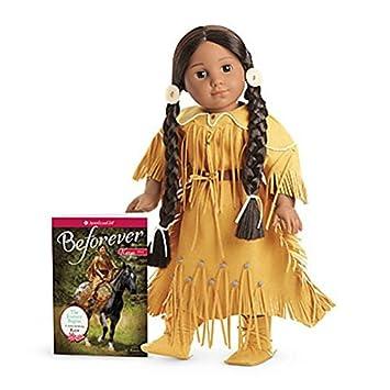 New American Girl Kaya/'s Deerskin Outfit Dress Moccasins Belt