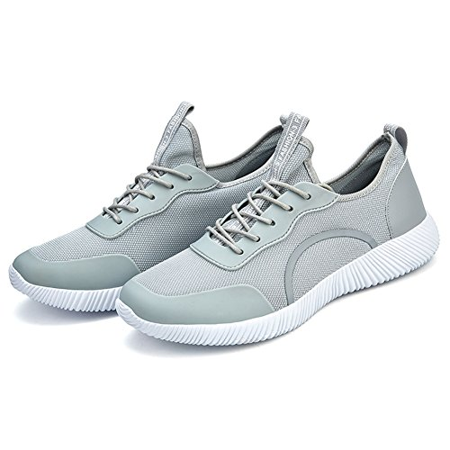 Fashion Grey Mesh Light Driving Shoes Outdoor Summer Walking Shoe Gomnear Breathable Casual Lace Lightweight Up Men's xvZFqH