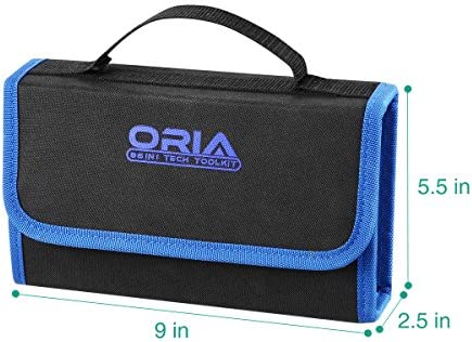ORIA Precision Screwdriver Set, 86 in 1 Magnetic Repair Tool Kit, Screwdriver Kit with Portable Bag for Game Console, Tablet, PC, Macbook and Other Electronics, Blue 51 2BPJ9EpW0L