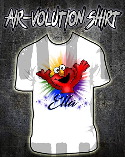 Personalized Airbrush Elmo Shirt