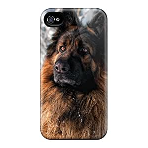 High Grade ConnieJCole Flexible Tpu Case For Iphone 4/4s - German Sheperd