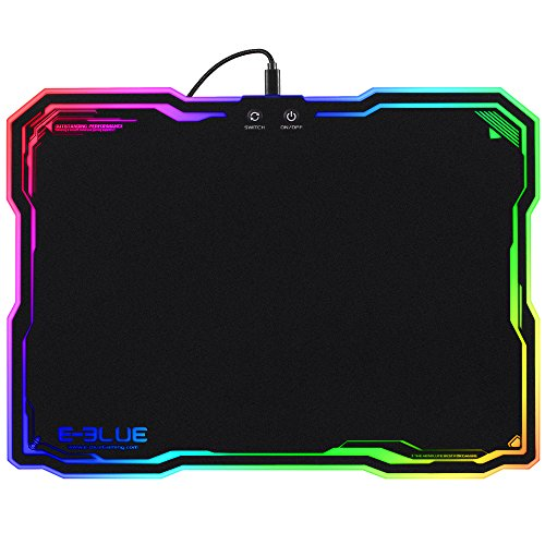 (Hard Gaming Mouse Pad RGB, 8 Lighting Modes 3 Brightness Levels LED Mice Mat for Gamer)