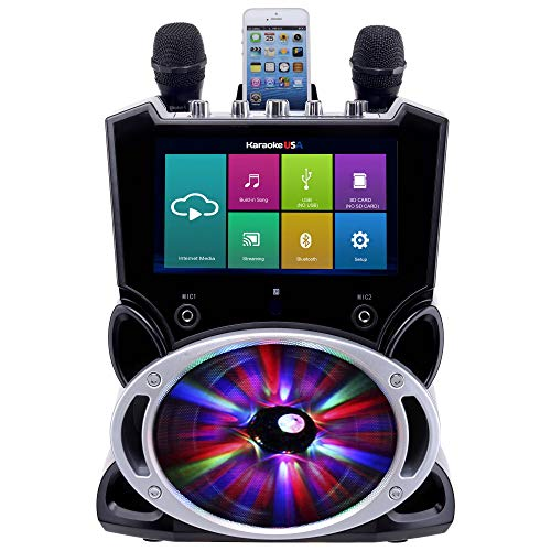 Karaoke USA WK849 Complete Wi-Fi Bluetooth Karaoke Machine with 9