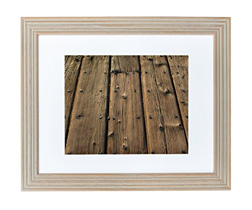 framed-art-print-brown-wood-texture-wall-art-santa-monica-pier-boards