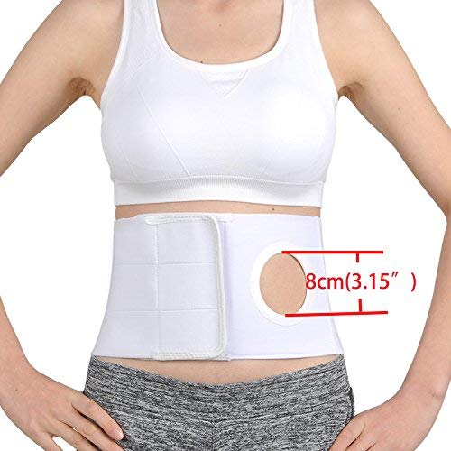 SUN RDPP Medical Ostomy Belt Unisex Hernia Support Belt Abdominal Stoma Colostomy Patients to Prevent Parastomal Opening,L by SUN RDPP