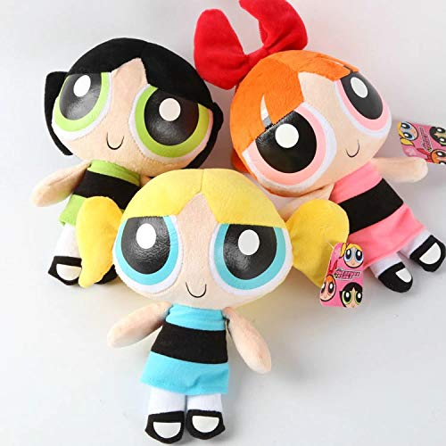 CartUp | TV Series – The Powerpuff Girls – Cute, Adorable, and Tough Blossom, Bubbles, and Buttercup Stuffed and Plush Toy – 20cm ()