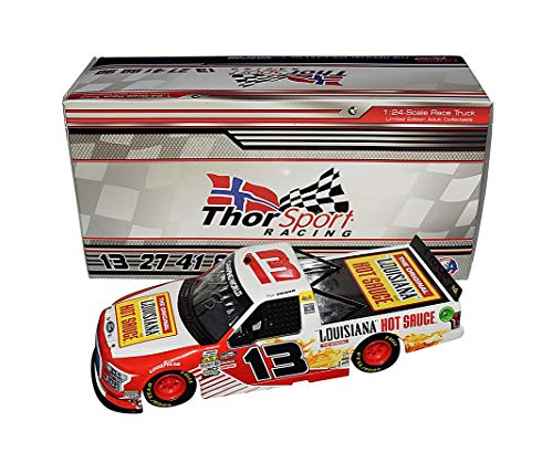 (AUTOGRAPHED 2018 Myatt Snider #13 Louisiana Hot Sauce Team (ThorSport Racing) Camping World Truck Series Signed Lionel 1/24 Scale NASCAR Diecast with COA (#093 of only 409 produced!))