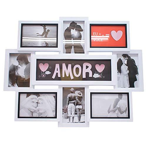 Multi Porta Retrato Amor 8 Fotos 10X15cm