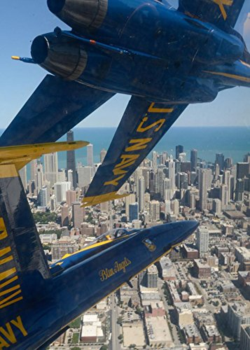 LAMINATED 24x33 inches Poster: Jets Military Navy Precision Team Flying Blue Angels Chicago Illinois Usa Aircraft Airplane Plane Flight Demonstration Airshow