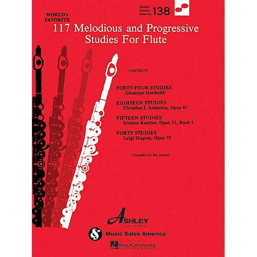 117 Melodious and Progressive Studies for Flute World's Favorite (Ashley) Series Pack of 2