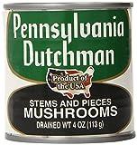 Pennsylvania Dutchman Canned Mushrooms, 12 Count