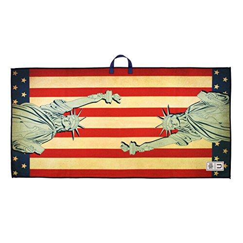 Uther Statue of Liberty - Premium Tour Golf Towel 20 x 40 inch - Ncaa Premium Golf Towel