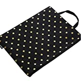 Office/School Document Holder File Bag Stationery Zipper Bag Pouch, Black