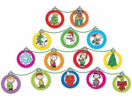 eureka peanuts dimensional christmas ornaments mini bulletin board set 24 reusable punch out pieces