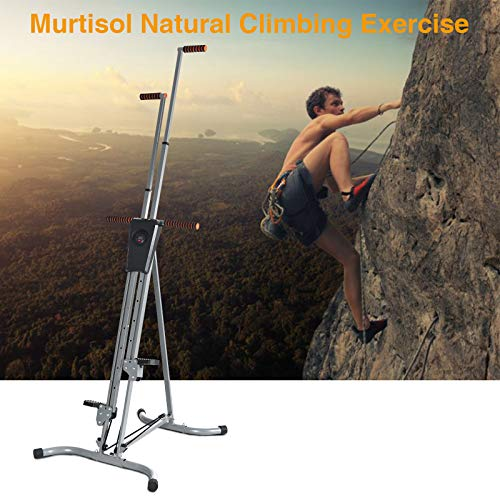 Murtisol Exercise Climber Fitness Vertical Climbing Cardio Machine with LCD Monitor,Natural Climbing Experience for Home Body Trainer by Murtisol (Image #3)
