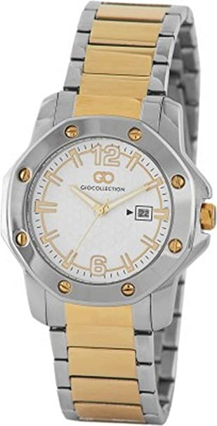 Gio Collection Analog White Dial Men's Watch - G1004-44 Men's Watches at amazon