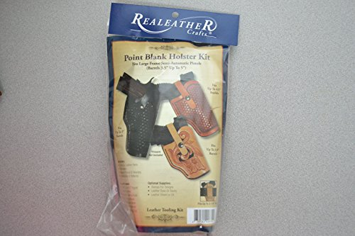 (Leather Veg Tanned Point Blank Holster Kit- Semi Automatic Pistols Gun Craft)