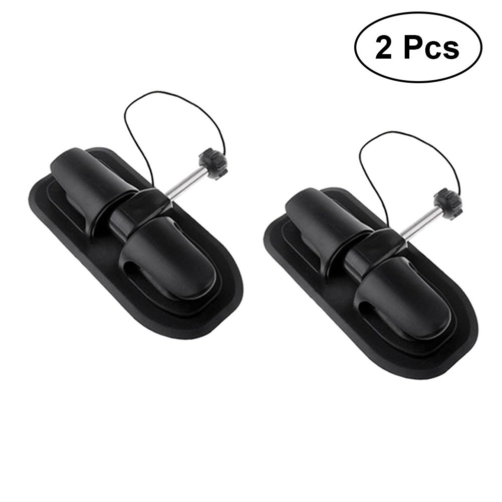 VORCOOL 2PCS Universal Inflatable Kayak Boat Paddle Oar Lock Anchor Holder Tie Off Patch Wheel Row Roller Rowing Boat Kayak Accessories (Black)