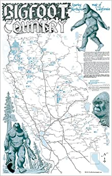 Bigfoot Country Touring Map Of Northern California Bob Filbey - Northern california map