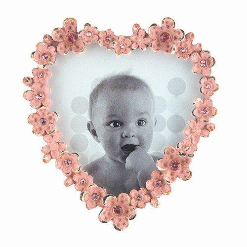 (World Buyers Jewelled Heart Photo Frame Pink 3.625x4 h)