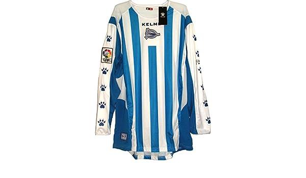 Deportivo Alaves Camiseta Futból 2005-06 Blanco-Azul Manga Larga Talla L: Amazon.es: Deportes y aire libre