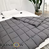 Rainbow Cool Stuff Weighted Blanket For Adults - Comforting And Calming Weighted Blanket WITH COVER. For Anxiety, Stress, Sleep Issues, Restless Leg Syndrome and Discomfort (15 lbs 48 x 72 inches)
