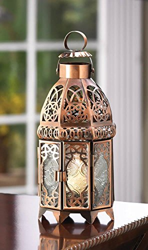 Candleholders Lanterns Copper Moroccan Candle Lamp Lantern Hangs Stand Home Accent New
