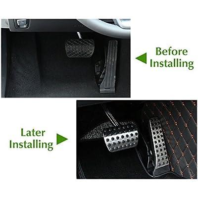 etopmia BEZ No Drill Fuel Brake Foot Pedals For Mercedes Benz C/E/S/GLK/SLK/CLS/Sl Class Silver (1 Pack): Automotive