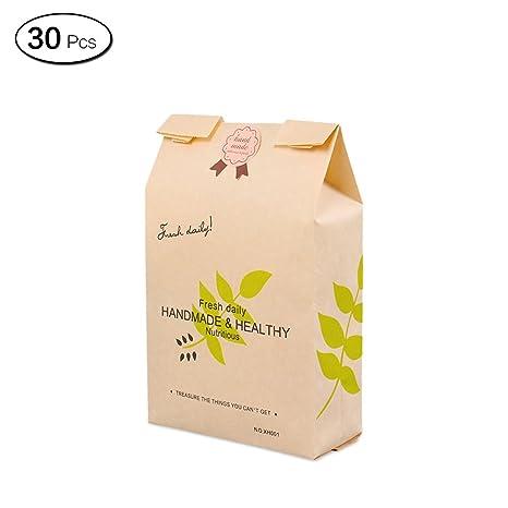Amazon.com: Jia Hu 30 piezas reciclable Kraft bolsas de ...