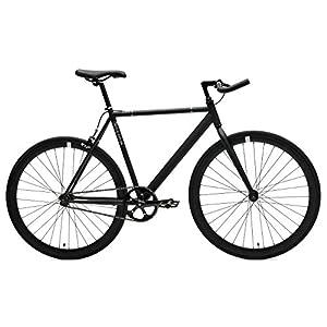 Retrospec Critical Cycles Classic Fixed Gear Single Speed Track Bike with Pursuit Bullhorn Bars, Matte Black, 53cm/Medium