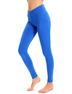 dafaf3e2d49704 NORMOV Butt Ruched Workout Leggings for Women- V Shape Waist Stretchy Fitness  Yoga Pants