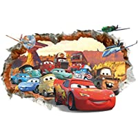 Kibi Pegatinas Decorativas Pared Cars 3d Disney Para