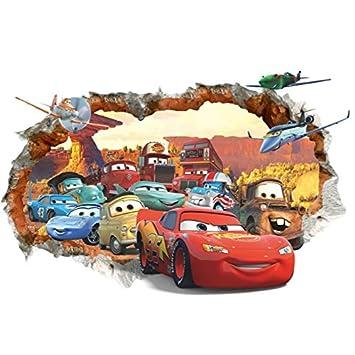 Kibi 3D Aufkleber Cars Wandtattoo Cars Wandaufkleber Cars 3 Wandsticker  Cars Disney Wandtattoo Cars Kinderzimmer, Dekoration Abnehmbare Aufkleber  Wall ...