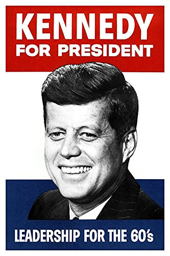 (John F Kennedy Poster Card, Leadership for The 60s)