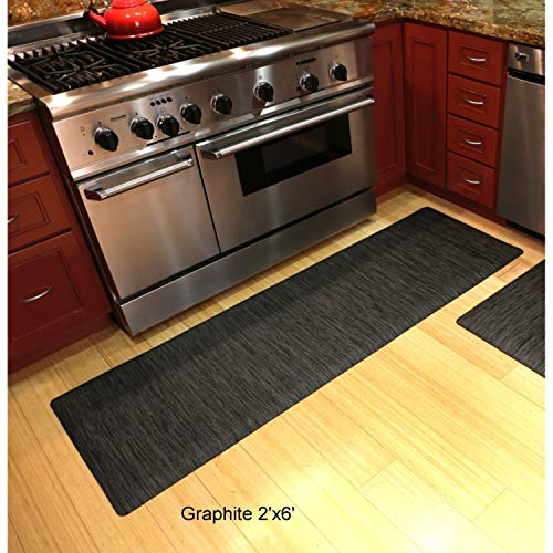 - Mats Inc. Luxe Therapeutic Ultra Cushioned Floor Mat, 2' x 6', Graphite